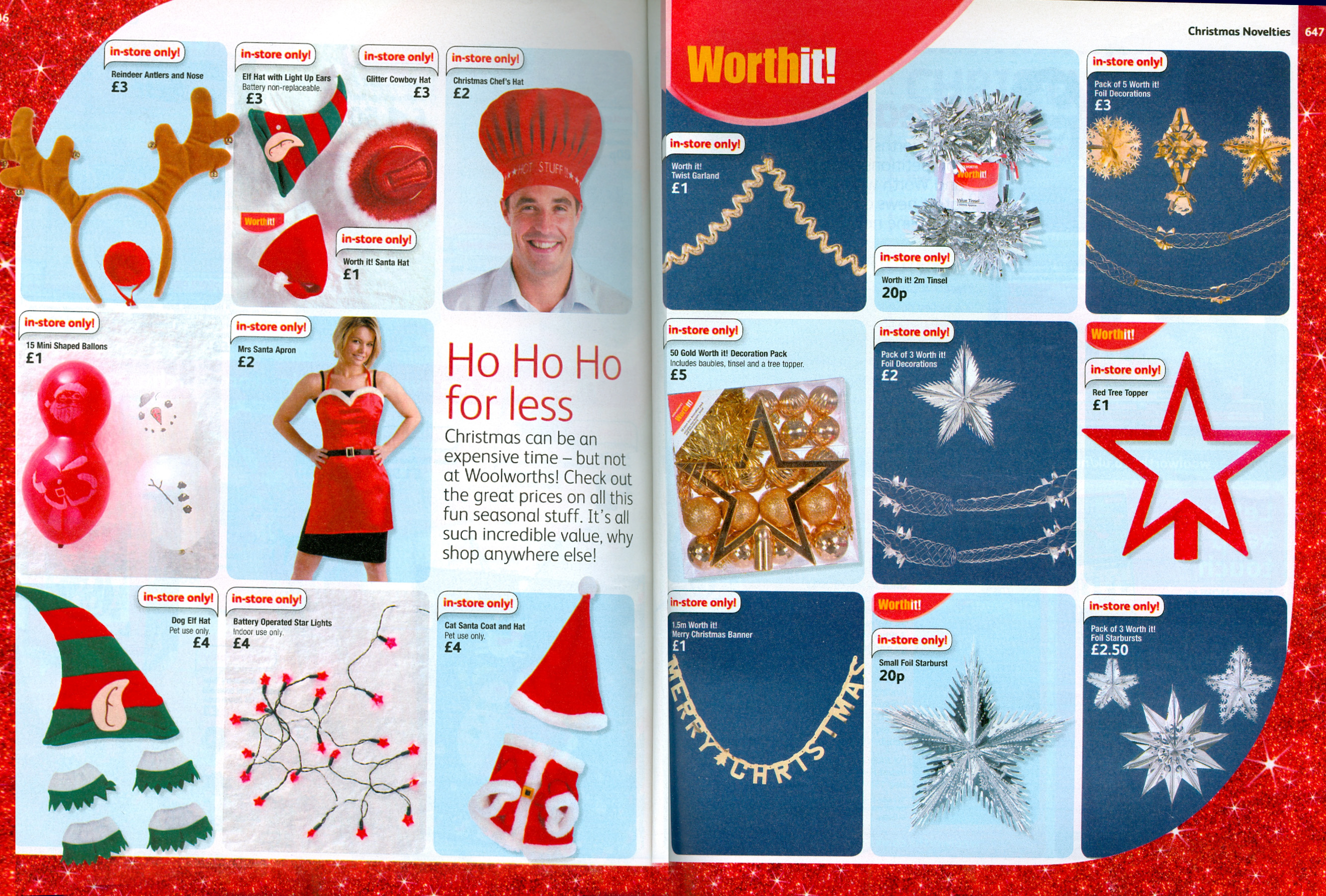 Christmas Decorations in the Big Red Book Catalogue for Winter 2007/8