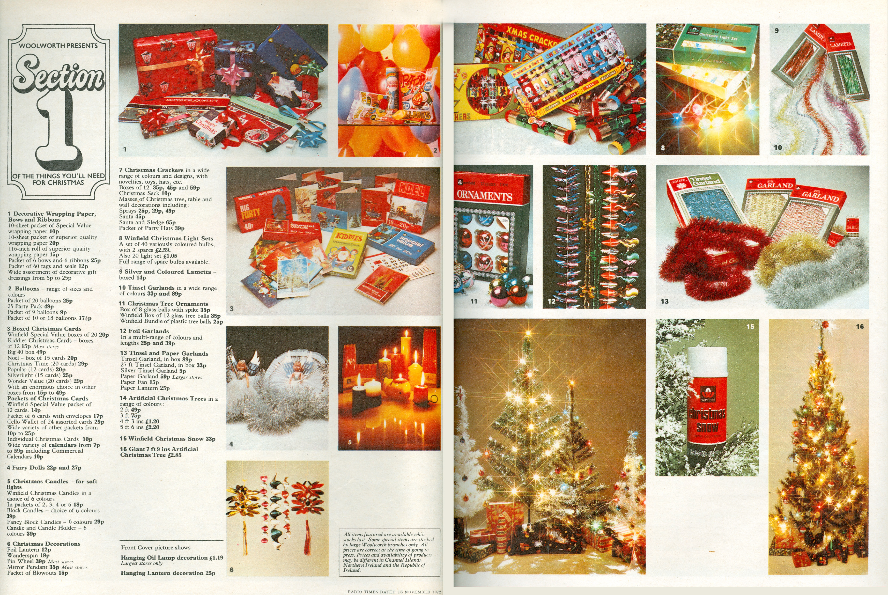 a sample spread from woolworths uks first national christmas catalogue which was distributed with the - 1980s Christmas Decorations